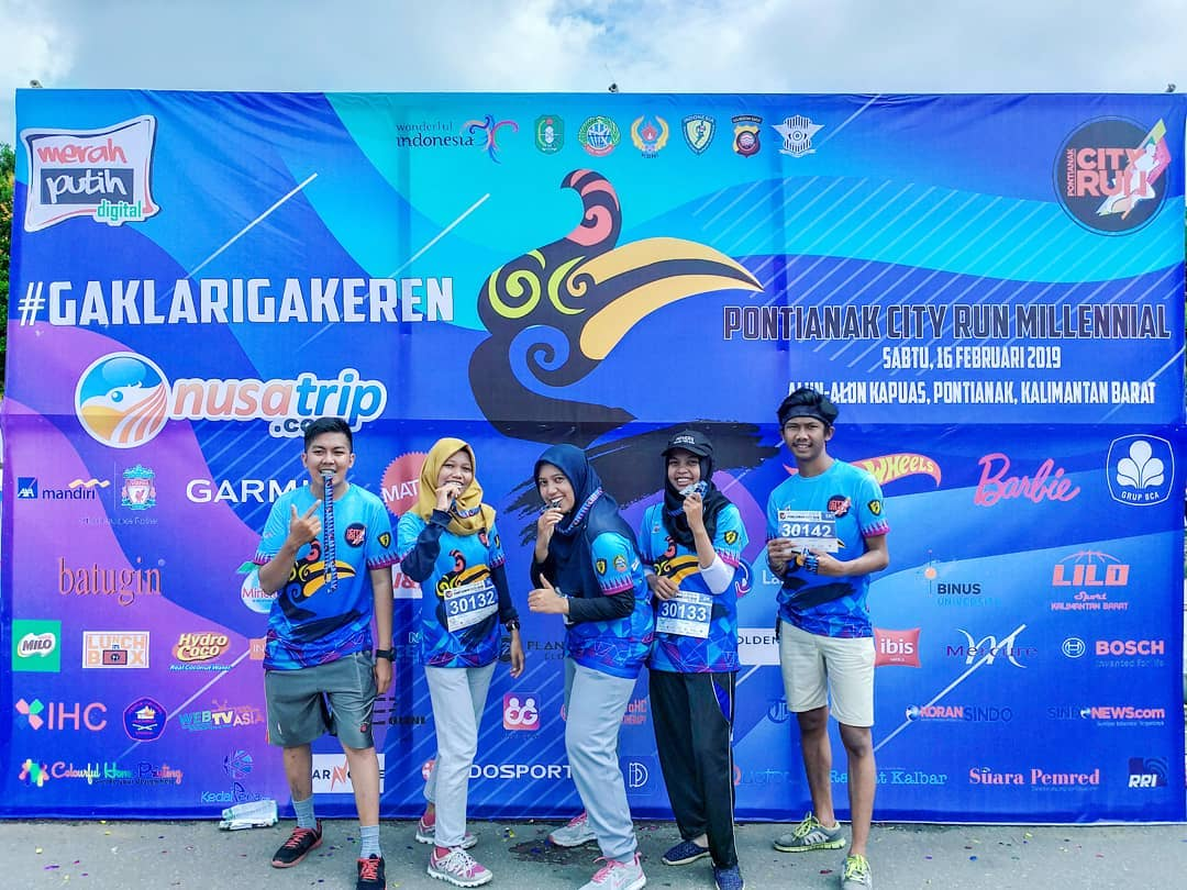 Keseruan Acara Pontianak City Run 2019